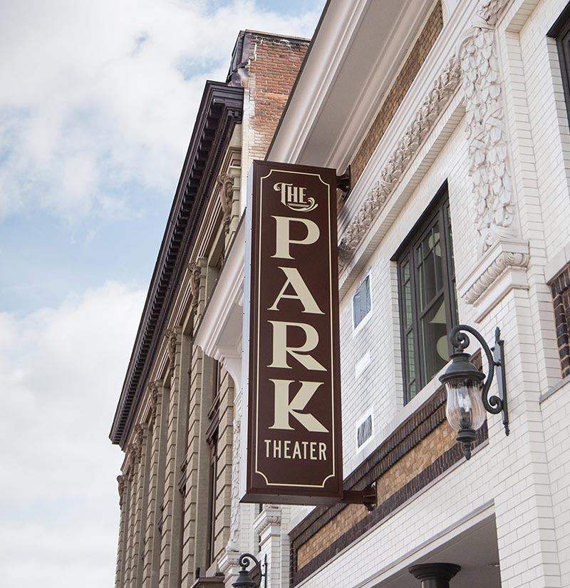 The Park Theater Exterior Sign and Light
