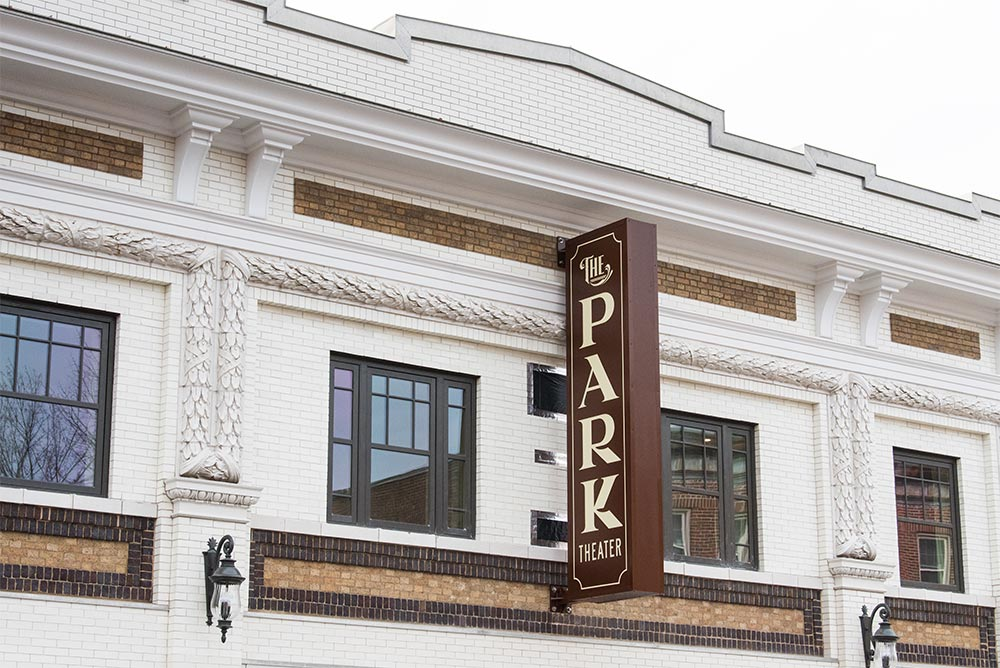 The Park Theater Sign on building exterior