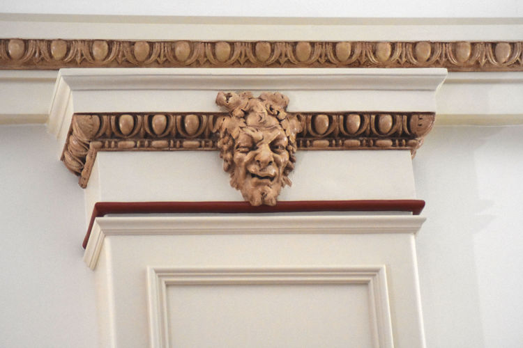 Column with Ornate Carving inside The Park Theater performance & event space in Glens Falls NY